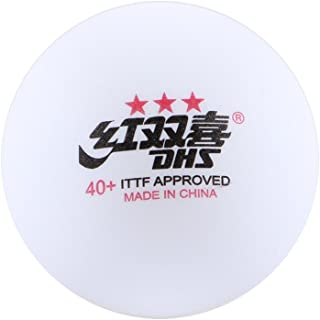 DHS NEW MATERIAL CELL-FREE 40+ SEAM ITTF APPROVED Table Tennis Ping Pong Balls - 3 Star for Competition