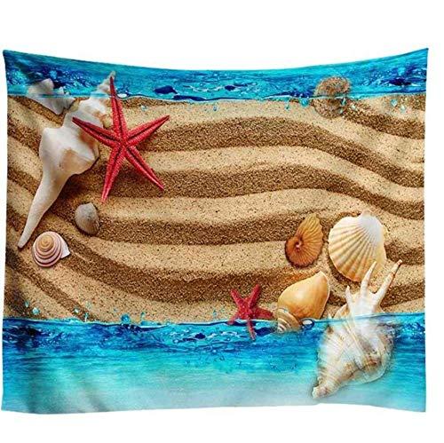 Zbzmm Moon Beach Tapijt, wandtapijt, kokos, wandtapijt, kunst, carpet, blanket, yogamat, decoratief behang voor thuis