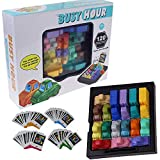 Portable Funny Puzzle Game Rush Hour Traffic Jam Logic Game Toy Set for Ages 8+ Boys & Girls (Multicolor, 1 Set)
