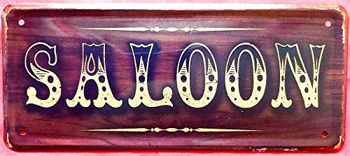 Blechschild 28x12 cm Saloon Wilder Westen Türschild Bar Kneipe Cowboy Indianer Bier Whiskey 005