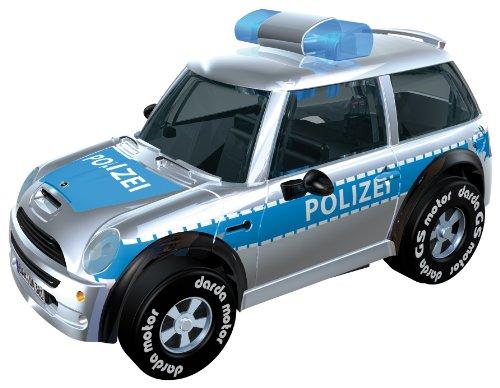 Darda 50381 Auto Mini Polizei, blau/Silber