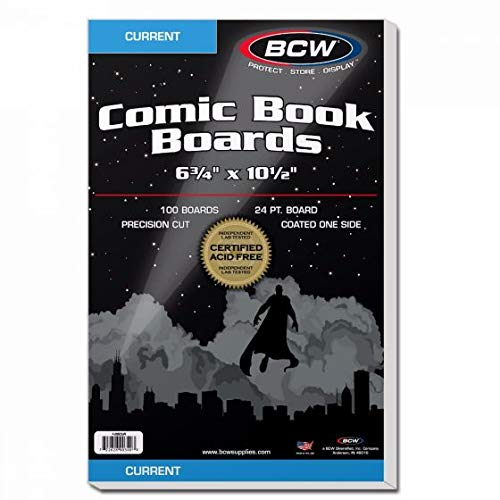 BCW Supplies - Current Size Comic Boards - White - BBCUR -...