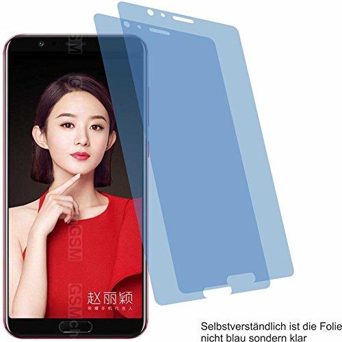 4ProTec I 2X Crystal Clear klar Schutzfolie für Huawei Honor View 10 Bildschirmschutzfolie Displayschutzfolie Schutzhülle Bildschirmschutz Bildschirmfolie Folie