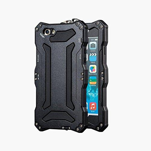 SE iPhone-Cover per iPhone 5s, in alluminio Meiya-urto, anti-polvere e sporco in Gorilla Glass-Custodia in gomma antiurto in silicone con struttura in metallo resistente Protezione militare-Custodia protettiva per iPhone 5/5s, con SE