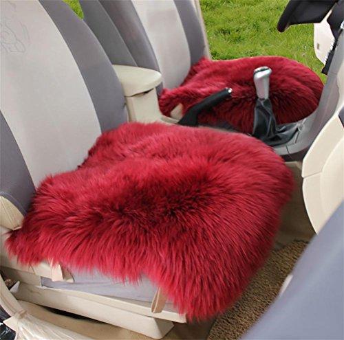 DIELIAN 18 inch luxe schapenvacht lange wol autostoelhoezen stoelkussen