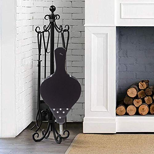 New Wang shufang 1pc Antique Large Black Wood Blower Fireplace Bellows