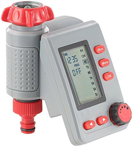 Royal Gardineer Bewässerungssysteme: Digitaler Bewässerungscomputer BWC-100 mit Magnet-Ventil (Bewässerung Zeitschaltuhr)