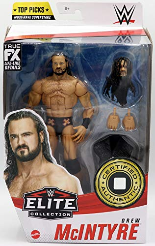 WWE Top Picks Elite Drew McIntyre Action Figure with Universal Championship6 in Posable Collectible Gift Fans Ages 8 Years Old and Up