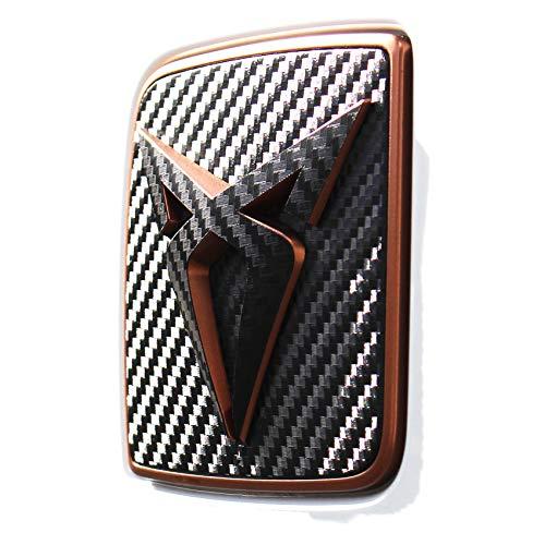 Emblem Folien Cover Set vorne + hinten inkl. Lenkrad Aufkleber Folie Dekor Abdeckung (K110 .Carbon Schwarz)