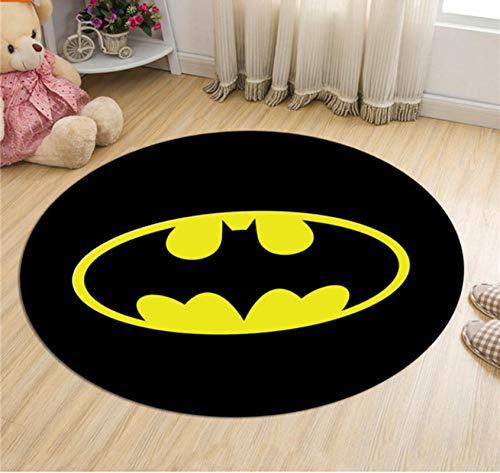 WHFDZJT Carpet Batman Superman Printed Soft Carpet Non-Slip Carpet Superhero Computer Chair Mat Mat 160Cm
