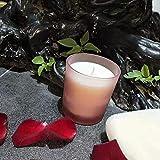 yyqianxi Vela perfumada Copa de Vidrio Cera de Soja Aceite Esencial Bandeja de Vela perfumada Set-Rojo