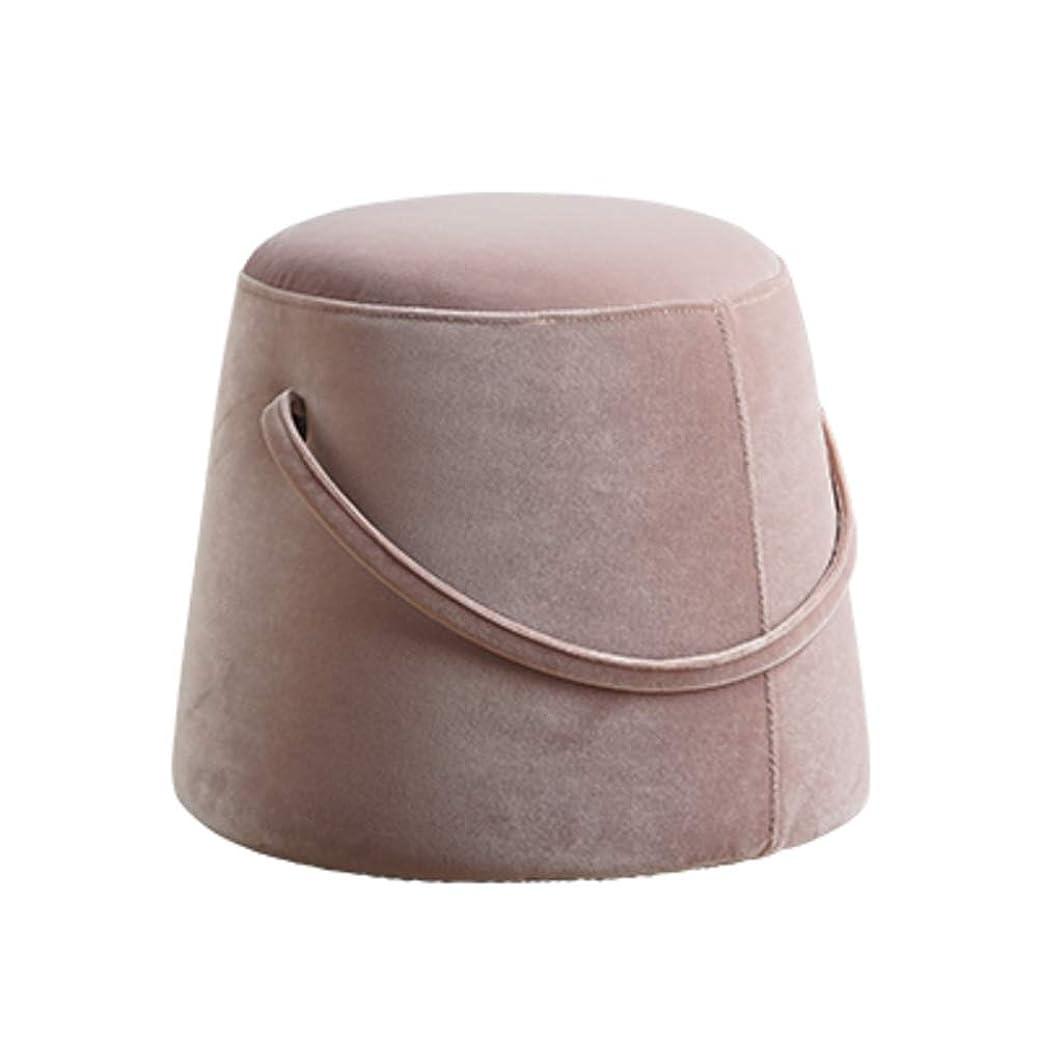 入る風邪をひく走る群生する オットマン スツール,ソファスツール,足の残り便 持続可能です リビング ルーム 補助丸椅子 大人と子供のため クリエイティブ 低スツール-ピンク 36x33cm(14x13inch)