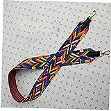 TOSSPER Hombro 1pc Bolsa De Asa Comporta Colorido Estilo Étnico Cinturones Anchos De Hombro del Color del Bolso Correas Sustitución Aleatoria