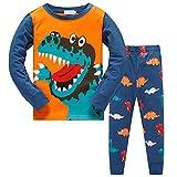 TEDD Pigiama Ragazzo Dinosauro Cotone Lungo Pyjama Sets Vestiti Bambini Invernale Due Pezzi Impostato Natalizio Regalo per Ragazzi 1-12 Anni