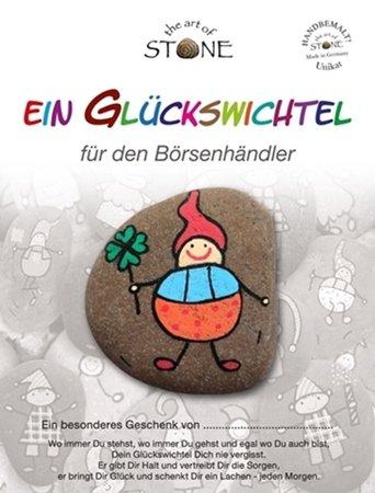 The Art of Stone Glücksbringer für den Börsenhändler - Glückswichtel Stein handbemalt Talisman Glücksbringer Berufe Handwerker