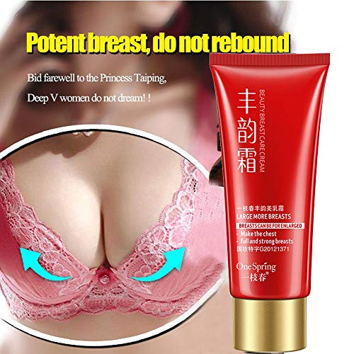 Cloodut Brustvergrößerung Creme Bruststraffung Lifting Massage Cream Busen Volumen Vergrößern mit der Wirkung der Angehobenen und Festen Brust 60ml (Rot)