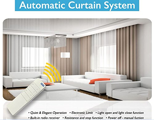 Electric Remote Controlled Drapery System W/8' Track Center Opening & Ceiling Mount Brackets CL-920A...