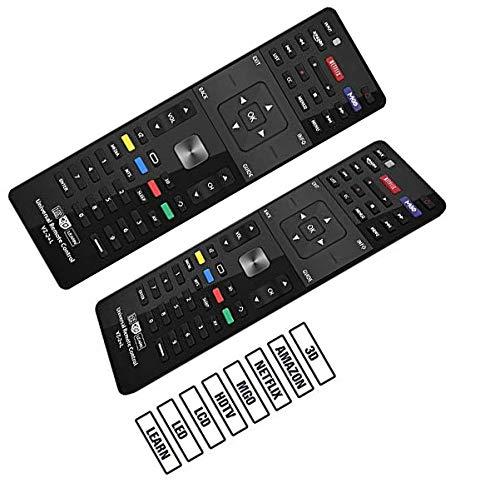 SccKcc Mando a distancia universal GVZ-2 + código L compatible de repuesto para VIZIO E Series/M Series TV / 3D/HD/LCD/LED para XRT112 XRT100 VR1 VR2 VR10 VR15 APP Hotkeys Amazon Netflix MGO 3D