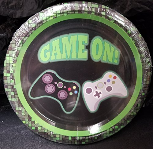 Game ON Video game Controllers Game Truck Party Plates Cake Epic Decoration Birthday 10 Pieces
