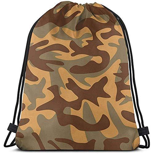 Lemotop Camouflage Textuur Militaire Behang Aangepaste Trekkoord Rugzak Sport Rugzakken Gym Sackpack Outdoor Reizen