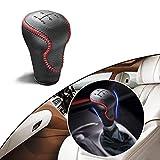 Maite Hand Sew Non-slip Leather Car Gear Shift Knob Cover 5 Speed Manual Transmission for Honda Ciimo...