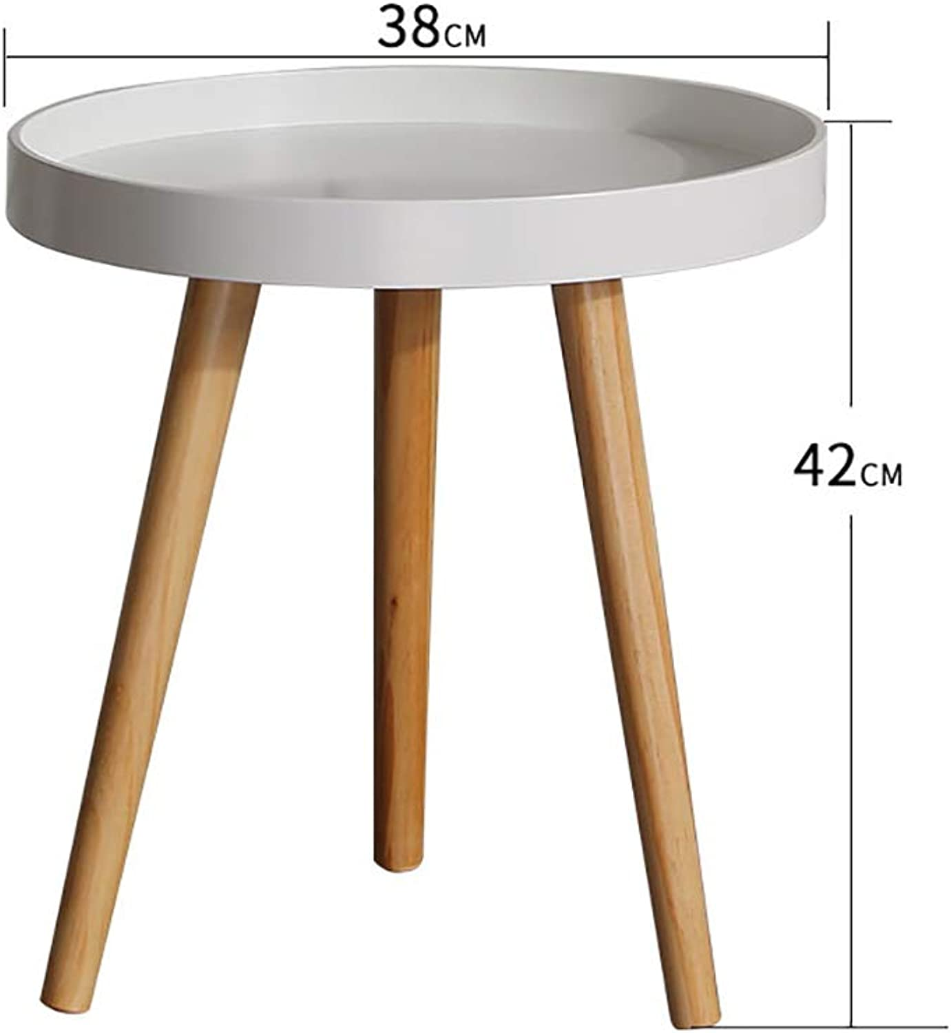 Small coffee table Small Round Table Bedroom Bedside Table Multi-Function Coffee Table Easy to Clean and Drop Down Durable Household, (high 50CM, 42CM Optional)