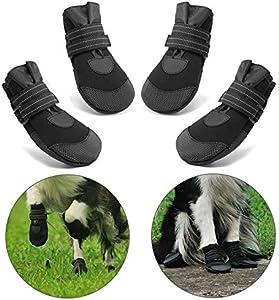 Hcpet Protectores de Pata de Perro, Zapatos Perro para Pequeña y Grandes Perros – Negro (2#)