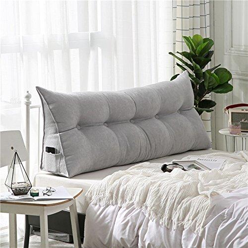 Polstermöbel Dreieckiger keil kissen, -sofa-bett kissen Sitzkissen Bettruhe Lesen kopfkissen Rückenlehne positionierung support pillow,Lumbale pad für büro-bett-sofa-grau 20x50x60cm(8x20x24inch)