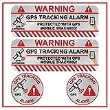 KOKOTEX GPS Aufkleber Auto (4 Stück) Silber klein Diebstahlschutz Tracking Alarm Tracker Sticker für Fahrrad Boot Wohnmobil Handy Tablet