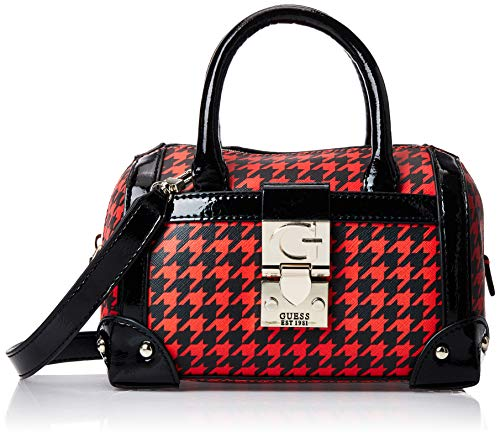 Guess - Lucienne, Bolso de mano Mujer, Multicolor (Houndstooth), 8.5x15x19.5 cm (W x H L)