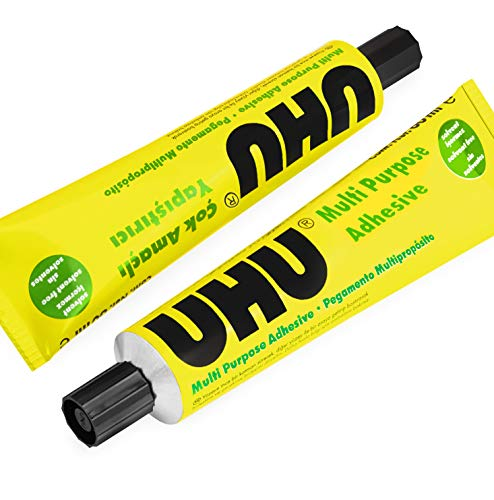 UHU All Purpose Adhesive Glue - Solvent Free - 60ml - Pack of 2
