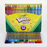 Crayola Twistables Colored Pencil Set, Art Supplies, Gift for Kids, 50 Count