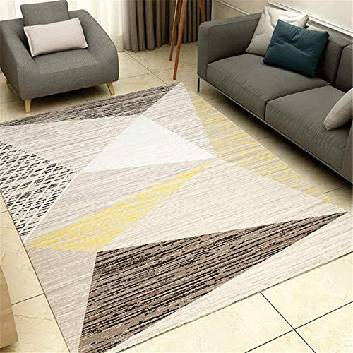 Tappeti tappeto salone Slip Design geometrico nero giallo sporco con tappeto sbiadito tappeti da salotti tappeto sedia gaming 50*120CM