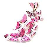 48 Piezas Calcomanía de Pared Deco de Mariposas 3D con imán, Pegatina en Colores Pastel...