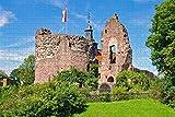 Rompecabezas para adultos Dreieich Castle Hayn Germany Puzzle de 1000 piezas de madera de recuerdo de viaje