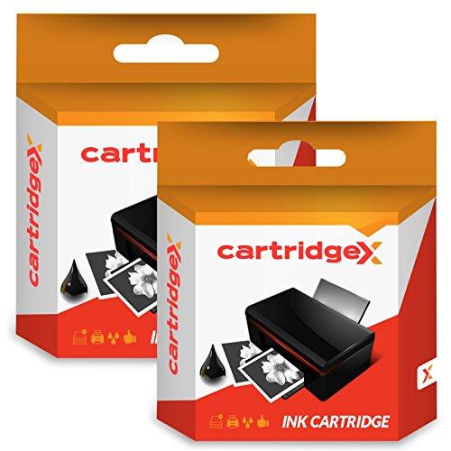cartridgex 2x Compatible Cartuchos de tinta de repuesto para 2318C1523-black para Lexmark X3530X3550X4530X4550X4550Z1400Z1410Z1420