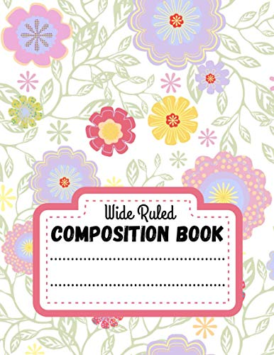 Composition Book Wide Ruled: Lined notebook paper - Christmas Presents ideas For Adults, Kids & Teen - Xmas gift journal - Cute Sunflower Background Cover