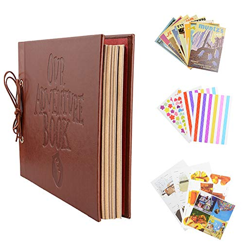 Po Albums - Vintage Kraft Paper Sheets Card Set Onze Mijn Avontuur Boek Album met Handgemaakte DIY Foto Foto - Scrapbook Scrapbook Pack Photo Adventure Card Fotoalbum Foto Groot Album Scrapbook