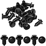 uxcell 20 Pcs 10mm Hole Retainer Clips Plastic Drive Rivets Flaps Bumper Fender Push Clips for Honda for Acura