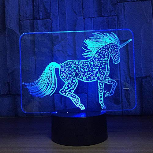 Lámpara De Ilusión 3D Luz De Noche Led Lámpara De Mesa Colorida De Acrílico Lámpara De Escritorio Estado De Ánimo Para Niños Cumpleaños Navidad Lámpara De Sueño Creativa Gfit Decoración De La Habitaci