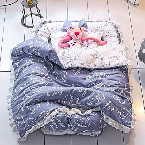 ZIXIANG Lits-Cages Lit Bionique Réversible Nid De Bébé Baby Lounger- Lit De Bébé Co-Sleeping, Convient pour 0-24 Mois Lits bébé Berceaux (Color : Blue)