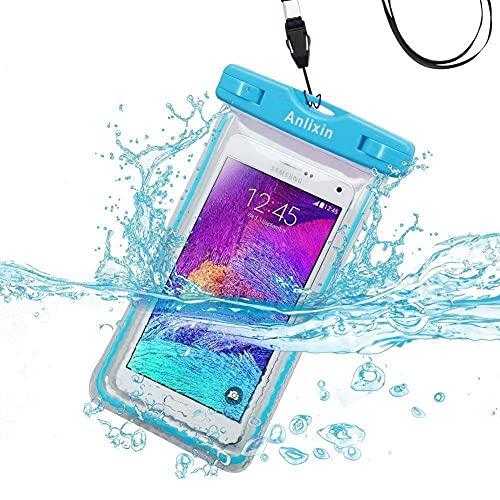 Anlixin Wasserfeste Handyhuelle Schützhülle, Handyhülle Beutel Tasche wasserdichte Handytasche für Samsung S21 Ultra S20 FE S10 S9 S8 Note 20 Huawei P40 P30 Pro Pixel 5 4 3 XL iPhone X XR XS MAX Pro