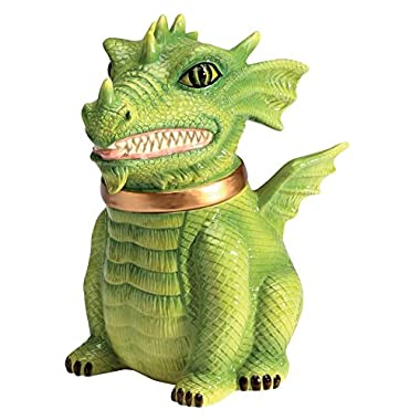 PTC Dragon Cookie Jar Ceramic Cute Kitchen Accessory