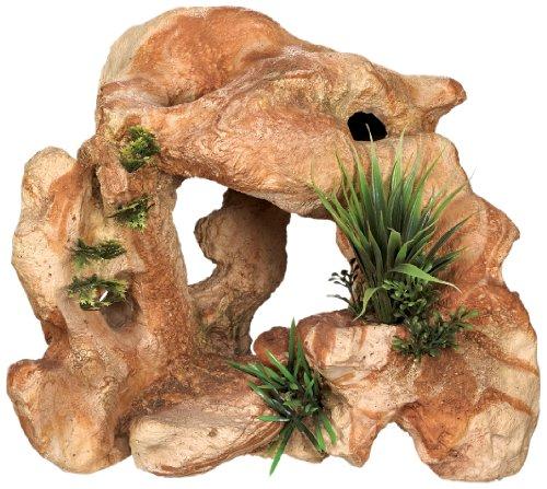 Nobby niet-giftige Lava rots met planten Aquarium ornamenten, 28,5 x 18,5 x 24 cm