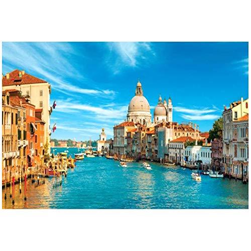 Culater Puzzle per Bambini Adulti Regalo di Festa Giocattolo Puzzle 1000Pc Puzzle Paesaggio Modello Venezia (Multicolor)