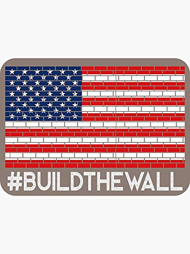#BuildTheWall Build The Wall - Sticker Graphic -Stickers for Hydroflask Water Bottles Laptop Computer Skateboard, Waterproof Decal Stickers