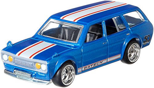 Hot Wheels \'71 Datsun Bluebird 510 Wagon 50th Anniversary Premium Collector Favorites 1 : 64 flf36 flf35