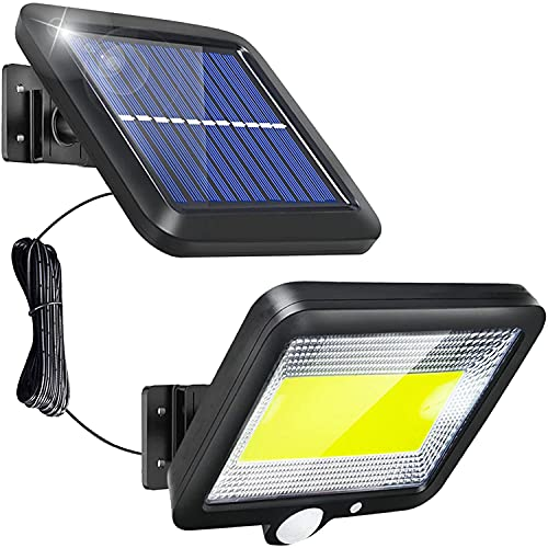 AOZBZ Solar Motion Lights Outdoor, 100 LEDs Solar Security Wall Light, Auto On/Off, 10 Hours Working Time, Waterproof Solar Panel Night Light for Yard Porch Patio Pathway Garden Garage