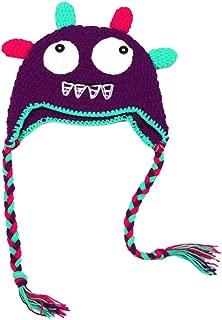 Yonger Cute Baby Girls Monster Crochet Knit Toddler Hat with Ear Flap