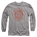 Saved by The Bell Bayside Tigers NBC Longsleeve T Shirt & Stickers (X-Large) Heather Gray